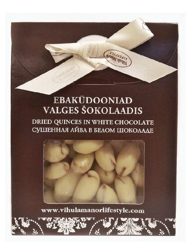 Vihula Mõisa kuivatatud ebaküdooniad valges šokolaadis
