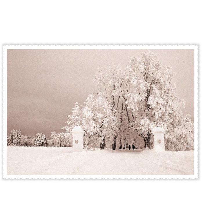 Jõulukaart Lumine Vihula Mõis