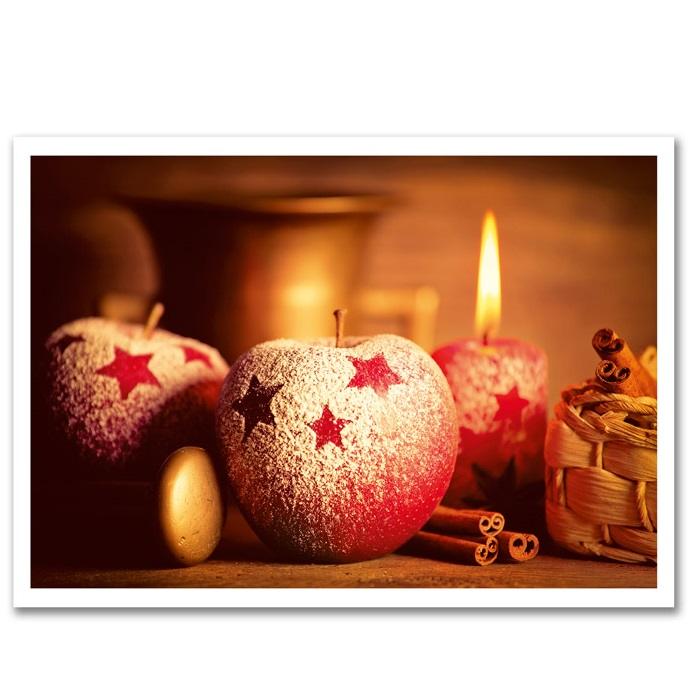 Jõulukaart Küünal ja Õun